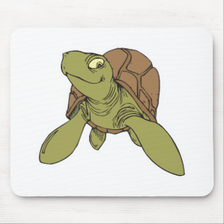 happy smiling sea turtle mouse mats