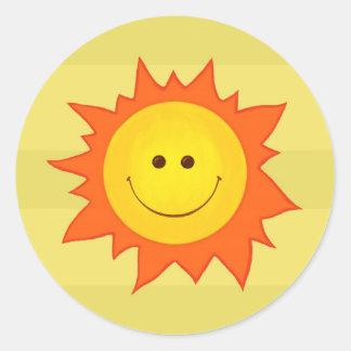 Happy Smiling Sun sticker