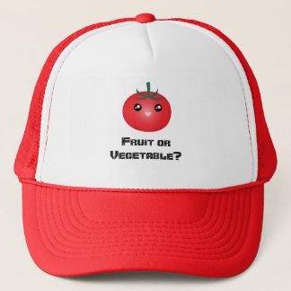 Happy Smiling Tomato Fruit Vegetable Kawaii Emoji Trucker Hat
