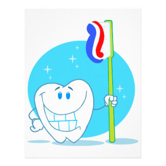 Happy Smiling Tooth With Toothbrush 21.5 Cm X 28 Cm Flyer