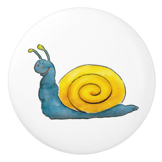 Happy snail | Adorable Animal Ceramic Knob