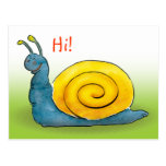 Happy snail | Hi Postcard