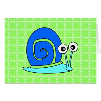 Happy Snail Thank You Cards