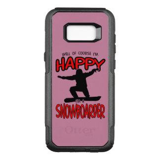 Happy SNOWBOARDER (Black) OtterBox Commuter Samsung Galaxy S8+ Case