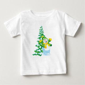 Happy Snowman Baby Shirt