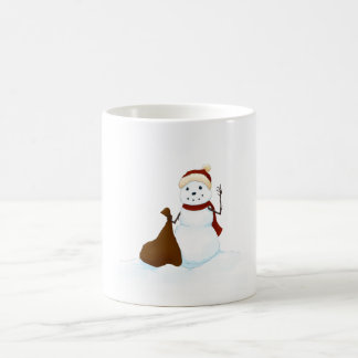 Happy snowman basic white mug