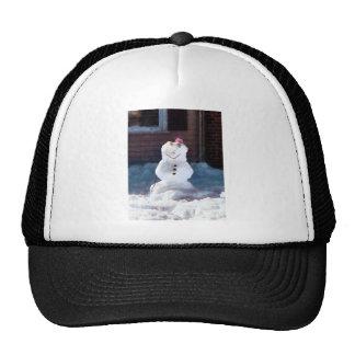 Happy Snowman Cap