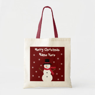 Happy Snowman Christmas Gift Bag