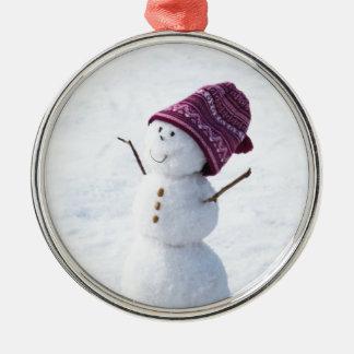 Happy Snowman Christmas Ornament