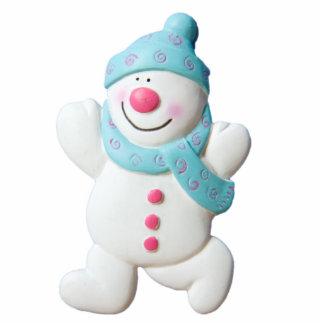 Happy Snowman Christmas sculpture, gift idea Standing Photo Sculpture