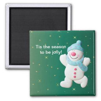 Happy Snowman cute, fun, christmas magnet
