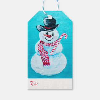 Happy Snowman Gift tags