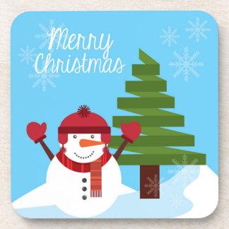 Happy Snowman Hug Coaster
