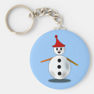Happy Snowman Keychain