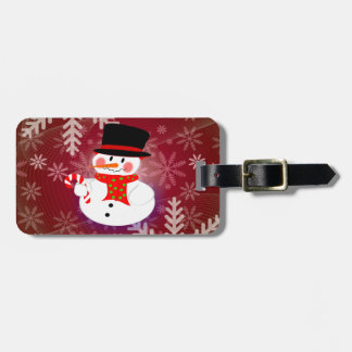 Happy Snowman Luggage Tag