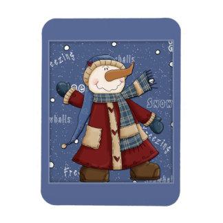 Happy Snowman Magnet