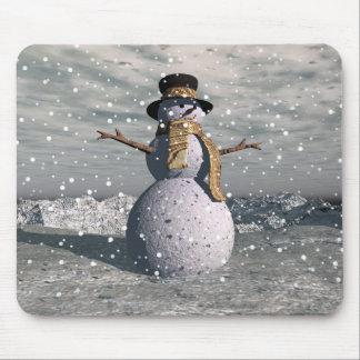 Happy snowman mouse mat