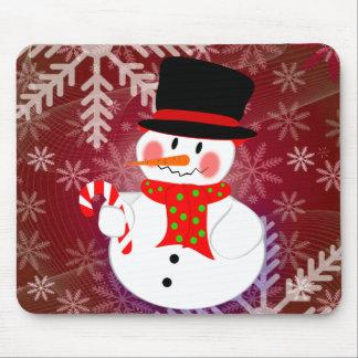 Happy Snowman Mouse Pads