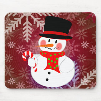 Happy Snowman Mouse Pad