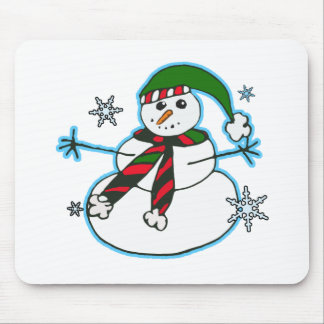 Happy snowman mousepad
