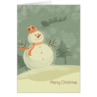 Happy Snowman Note Card