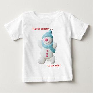 Happy snowman novelty christmas infants t-shirt