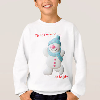Happy snowman novelty christmas kids sweatshirt