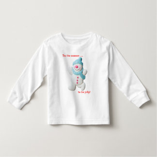 Happy snowman novelty christmas toddler t-shirt