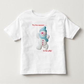 Happy snowman novelty christmas toddler t-shirt