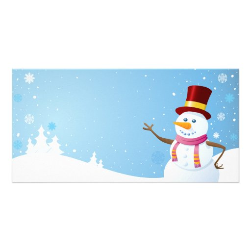 Happy Snowman Personalized Photo Card