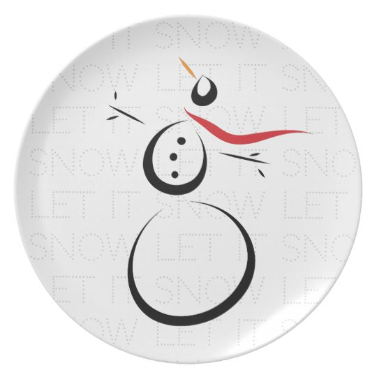 HAPPY SNOWMAN PRESENTS 'Let it Snow' Winter Plate