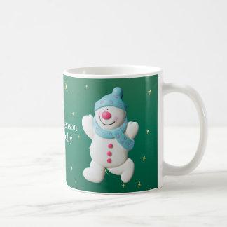 Happy Snowman tis the season christmas mug, gift