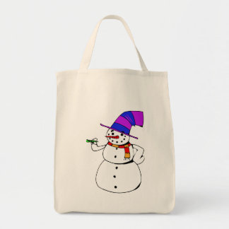 Happy Snowman Tote Bag