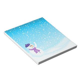 Happy Snowman Winter Notepad