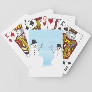 Happy Snowmen Poker Deck