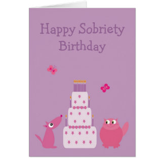 Happy Sobriety Birthday Card
