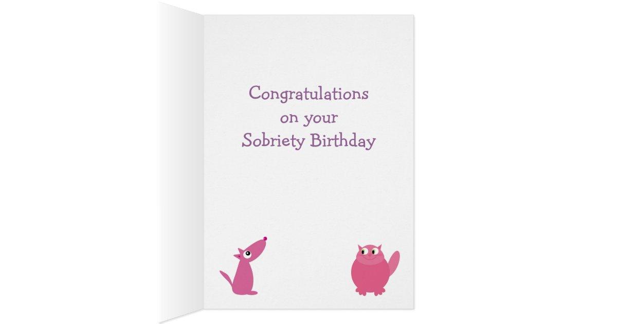 Happy Sobriety Birthday Card