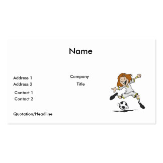 happy soccer girl kid graphic pack of standard business cards