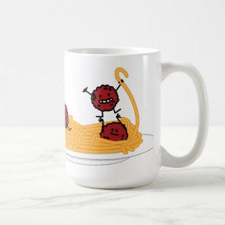Happy Spaghetti and Meatballs Classic White Coffee Mug