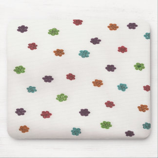 Happy Spiral Flower Mousepad