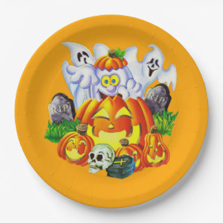 Happy Spooky Halloween Paper Plate