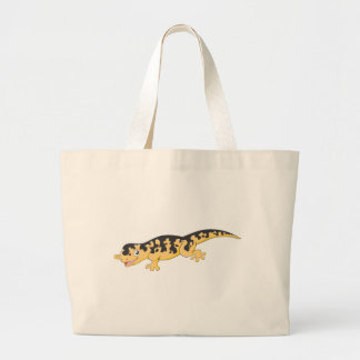 Happy Spotted Salamander Cartoon Jumbo Tote Bag