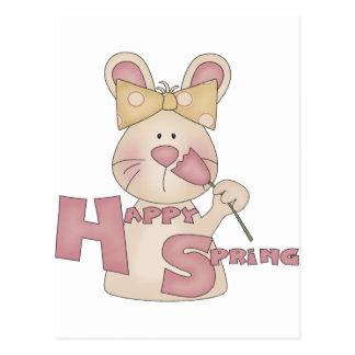 Happy Spring Bunny Postcard
