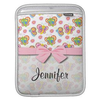 happy spring butterflies pattern iPad sleeve