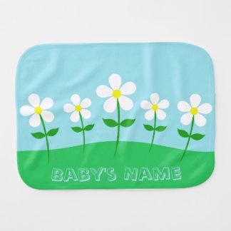 Happy Spring Daisies Burp Cloth