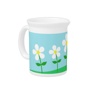Happy Spring Daisies Pitcher