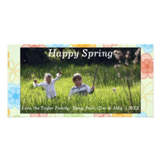 Happy Spring/Easter Photo Card Flowers