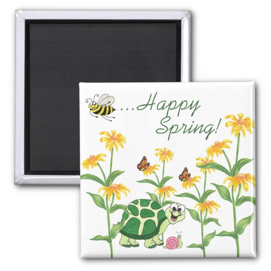 Happy Spring - Fridge Magnet