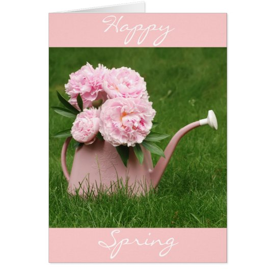 Happy Spring Peonies Card