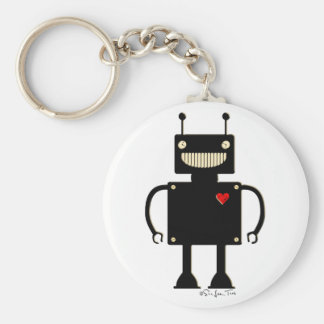 Happy Square Robot 1 Key Ring